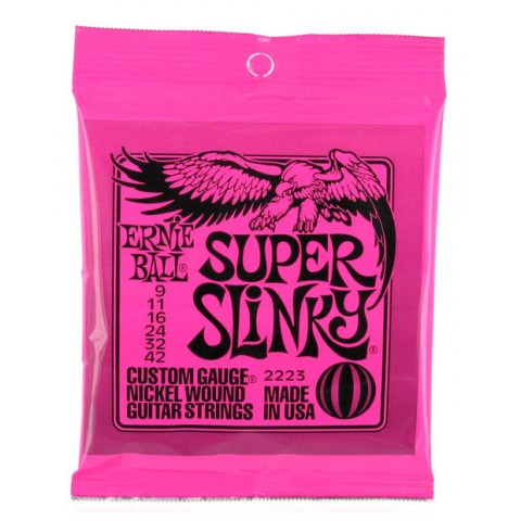 ERNIE BALL 2223 SUPER SLINKY CORDE PER CHITARRA ELETTRICA NICKEL WOUND 009/042