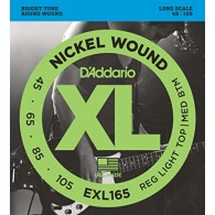D'ADDARIO EXL165 CUSTOM LIGHT CORDIERA PER BASSO ELETTRICO 4 CORDE NICKEL WOUND - 045/105