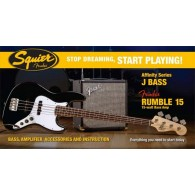 SQUIER AFFINITY BY FENDER JAZZ BLACK PACK