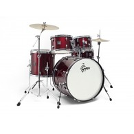 GRETSCH DRUMSET ENERGY GEX-E605-4W RED+HARDWARE+PIATTI
