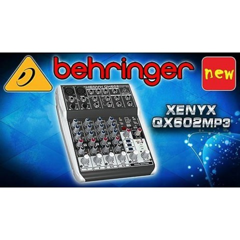 BEHRINGER XENYX QX602MP3 CON MULTIEFFETTO E MP3