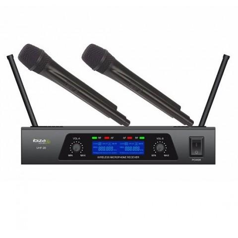 IBIZA UHF 20 DOPPIO RADIOMICROFONO PALMARE UHF