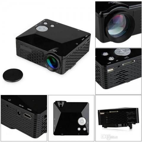 MINI PROIETTORE A LED AV/VGA/SD/USB/HDMI