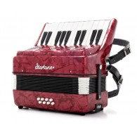 STARTONE PUCK KIDS ACCORDION RED 8 BASSI