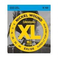 D'ADDARIO EXL 125 SUPER LIGHT CORDIERA PER CHITARRA ELETTRICA NICKEL WOUND 009/046