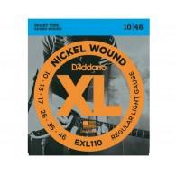 D'ADDARIO EXL110 REGULAR LIGHT CORDIERA PER CHITARRA ELETTRICA NICKEL WOUND 010/046