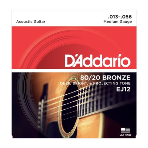 D'ADDARIO EJ12 80/20 BRONZE CORDIERA PER CHITARRA ACUSTICA