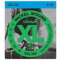 D'ADDARIO EXL130 EXTRA SUPER LIGHT CORDIERA PER CHITARRA ELETTRICA NICKEL WOUND 008/038