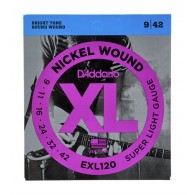 D'ADDARIO EXL120 SUPER LIGHT CORDE PER CHITARRA ELETTRICA NICKEL WOUND 009/042