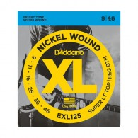D'ADDARIO EXL 125 SUPER LIGHT CORDIERA PER CHITARRA ELETTRICA NICKEL WOUND 009/046